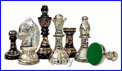 100 % Brass 10 x 10 Collectible Premium Metal Brass Made Chess Board Game Set
