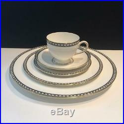 10pc Wedgwood Black Ulander Lot 2x Complete 5 Piece Place Settings Ch5582