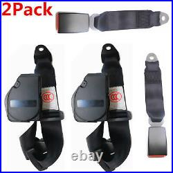 2 Set Universal 3 Point Retractable Seat Belts for Jeep CJ YJ Wrangler 1982-1995