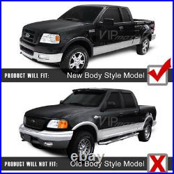 2004-2008 Ford F150 SINISTER BLACK Smoke Head Lights Headlamps PAIR Assembly