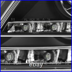 2008-2011 Mercedes-Benz W204 C-Class Black AMG STYLE LED Projector Head Lights
