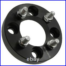 25mm 4x108 to 4x100 Wheel Adapters Set of 4 Billet Spacers 12x1.5 Studs