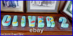 26pc ALPHABET SET Letters Silicone Bakeware Cake Mould Mold Resin Wax Flowers