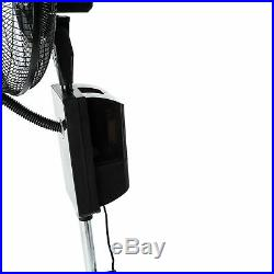 Black Cooling Misting Oscillating Portable Mist Fan Humidifier 3 Speed Settings