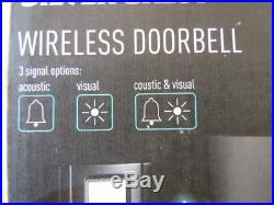 Black Wireless Doorbell Bell Push Chime 36 Sounds 5 Volume Settings No Reserve