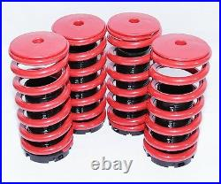 Coilover Lowering Coil Springs Set RED/BLACK for Civic 88-91/92-95/96-00