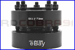 Complete Set OF 2012-2017 Ram 1500 2 Black Hub Centric Wheel Spacers Adapters