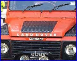 Defender 90/110 Set (Bonnet & Wings) 2mm Chequer Plate Black Land Rover (2007)