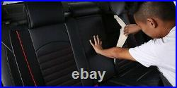 Deluxe Black PU Leather Full Set Seat Covers For Audi A4 A6 A8 Q7 Q5 S-Line