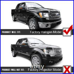 FACTORY PROJECTOR STYLE For 09-14 Ford F150 Black Projector Headlight Lamp L+R