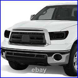 For 07-13 Toyota Tundra Front Led Drl+turn Signal Projector Headlight Lamps Set