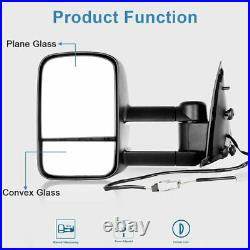 For 97-03 Ford F150 Side View Mirrors Power Pair Set Tow Mirrors L+R
