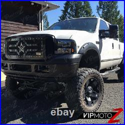 For 99-04 Ford F250 F350 SuperDuty SINISTER BLACK SMOKE CONVERSION Headlight
