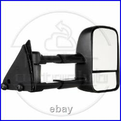 For Chevrolet Gmc C K 1500 2500 3500 Truck 88-98 Manual Towing Mirrors Pair Set