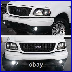 For FORD 97-03 F150 Black 4PC Headlight Corner Signal Lamp withBRIGHT LED SMD Bulb