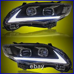 For Toyota Corolla 2011-2013 Replace LED DRL Headlights Projector Lamp Pair Set