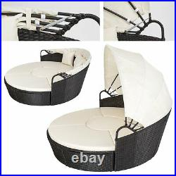 Garden Haven Luxury Poly-rattan Garden Day Bed Lounge Set New Improved 2020