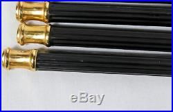 Lot 4 5-piece Settings Flatware Sasaki Tucano Stainless Black with24K Gold Accent