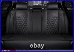 Luxury PU Leather Car Seat Covers Universal Full Set Front+Rear Seat Cushion Mat