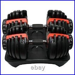 NEW Adjustable Dumbbell Dumbbells Weights 552 Set Pair 52.5lbs TWO DUMBBELLS