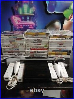 Nintendo Wii Console 2 sets controllers TESTED GAMES SHIPS SAME DAY Gamecube