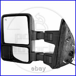 Power Heated For 99-02 Ford F-250 Super Duty Tow Mirrors Pair Set Side Mirrors