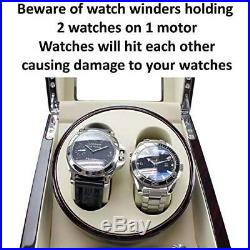 Quad Watch Winder Independently Controlled Settings Adjustable Pillow Black Box
