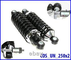 Rear Street Rod Coil Over Shock SET with250 Pound Black Coated Springs