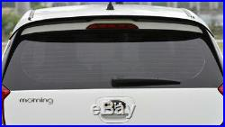 Rear Window Wing Roof Spoiler Painted Molding Set For KIA 2018 Picanto / Morning