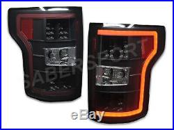 Set of Pair Eagle Eyes Black LED Taillights for 2018-2019 Ford F-150 XL / XLT