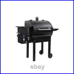 SmokePro DLX Pellet Grill in Black Adjustable Smoke Settings From 1-10