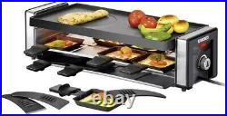 Unold Finesse Raclette 8 pannikins, with manual temperature settings Black