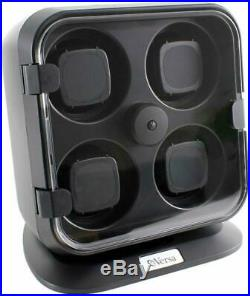 Versa Quad Watch Winder With Light In Black Independently Controlled Settings